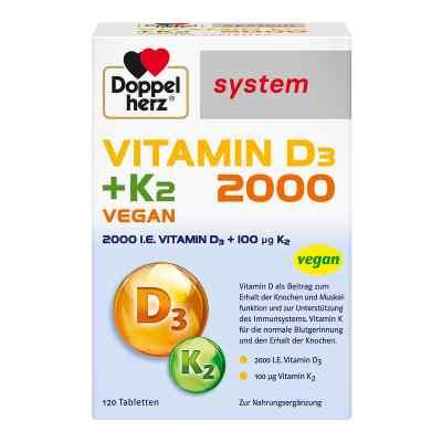 Doppelherz Vitamin D3 2000+k2 system tabletki   zamów na apo-discounter.pl