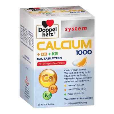 Doppelherz Calcium 1000+d3+k2 system Kautabletten  zamów na apo-discounter.pl
